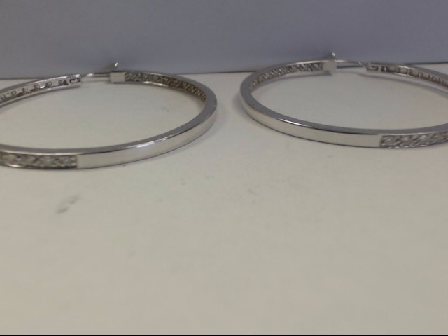 Gold-Diamond Earrings 88 Diamonds 1.76 Carat T.W. 14K White Gold 8.89g