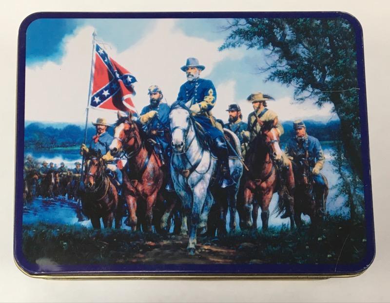General Robert E Lee Pocket Watch & Pocket Knife Gift Set in Tin
