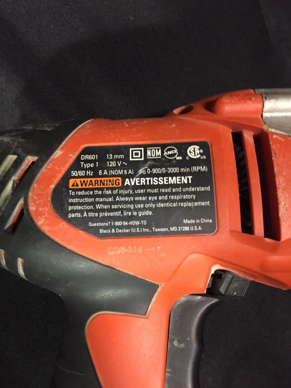 "Black & Decker Corded Drill DR601 1/2"" Chuck"
