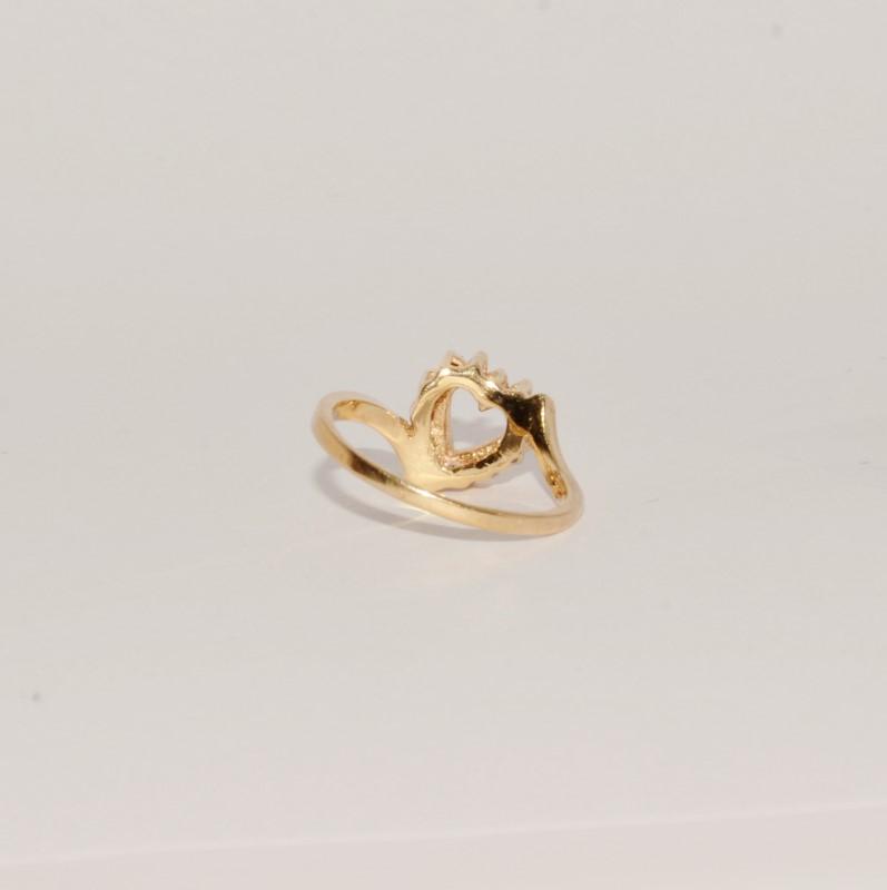 Lady's Diamond Fashion Ring 14 Diamonds .28 Carat T.W. 14K Yellow Gold 2.8g