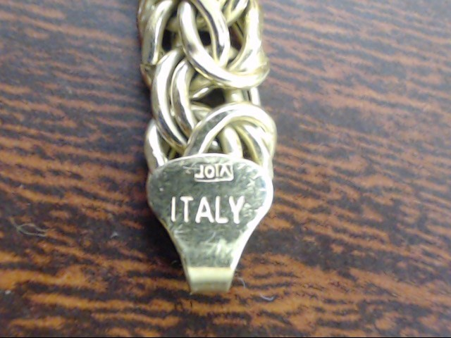 "ESTATE BYZANTINE BRACELET SOLID 14K GOLD TRI COLOR ITALY 8.4g 7.5"""