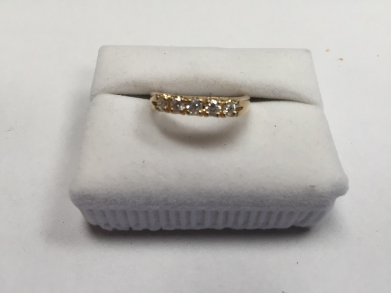 Lady's GOLD/DIA ANNIVERSARY BAND 5 DIAMONDS .50 Carat T.W. 18K YELLOW GOLD