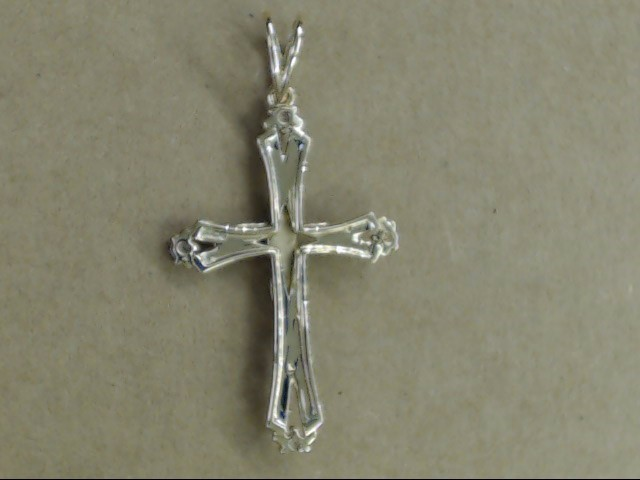 "LARGE 2"" CRUIFIX CROSS CZ PENDANT CHARM SOLID REAL 14K GOLD CATHOLIC"