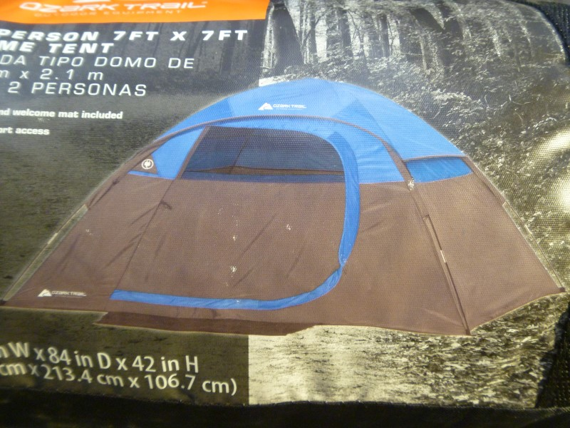 OZARK TRAIL 30135 2 PERSON 7FT X 7FT DOME TENT