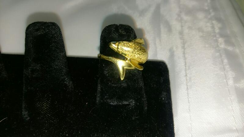 Lady's Gold Ring 14K Yellow Gold 4.3g Size:5