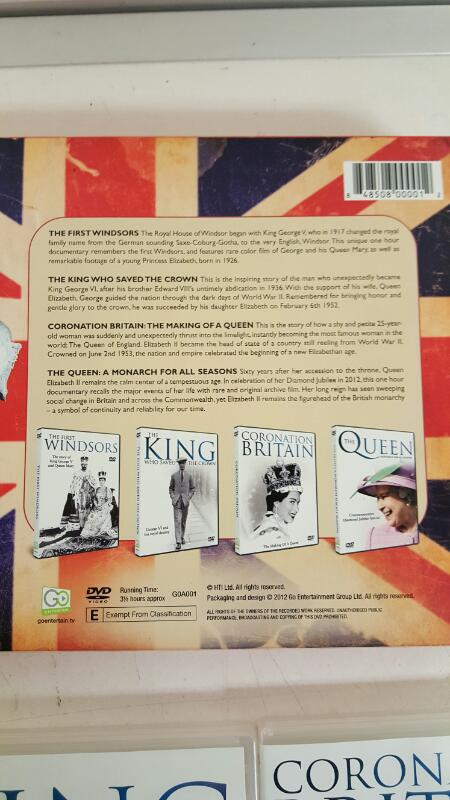 THE QUEEN 60 Glorious Years 4 DVD Collection