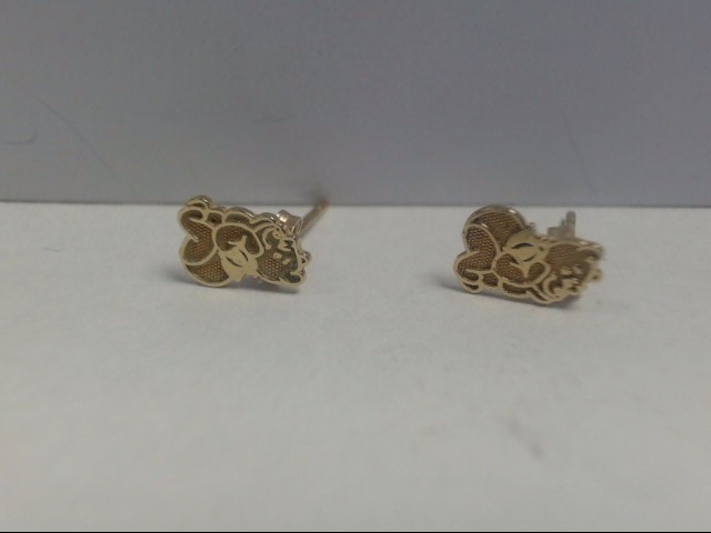 Gold Earrings 14K Yellow Gold 0.5g