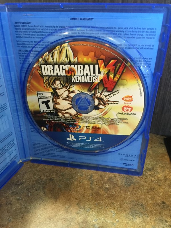 SONY Sony PlayStation 4 Game DRAGON BALL XENOVERSE PS4