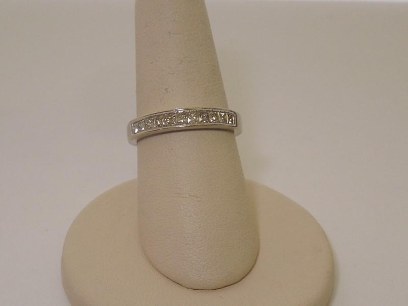 Lady's Diamond Wedding Band 11 Diamonds .33 Carat T.W. 14K White Gold 3.2g