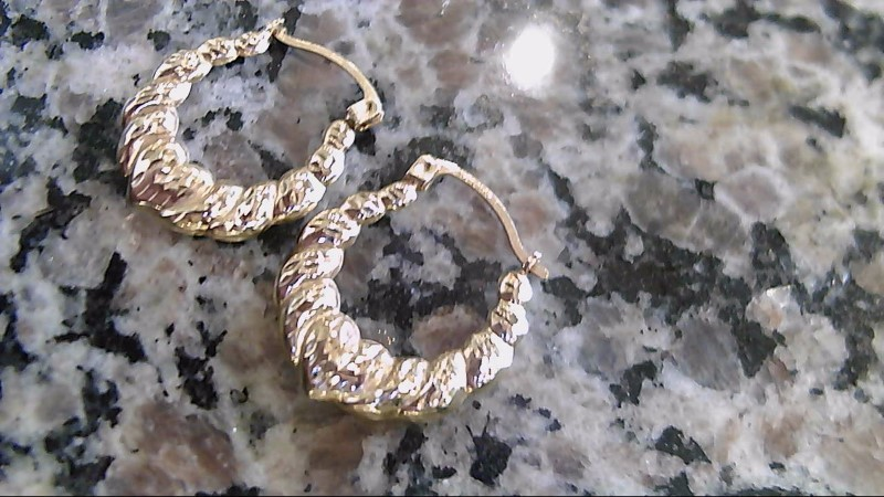 Gold Earrings 10K Yellow Gold 1.2g