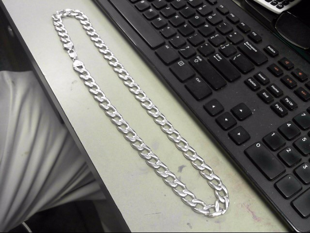 """24"""" Silver Link Chain 925 Silver 138.3g"""