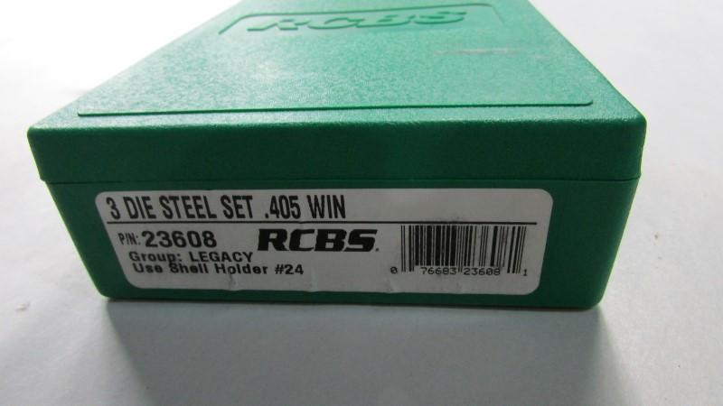 RCBS 3 DIE STEL SET .405 WIN