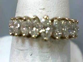 Lady's Gold-Diamond Anniversary Ring 9 Diamonds .99 Carat T.W. 14K Yellow Gold