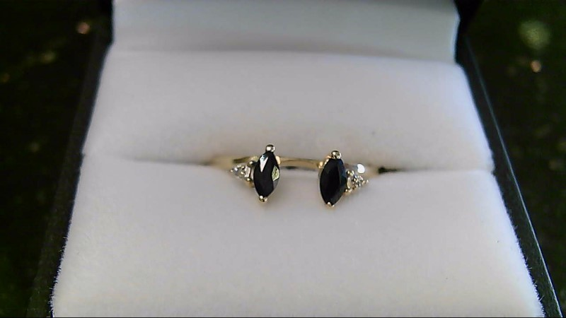Lady's Stone & Diamond Ring 10K Yellow Gold 1.5g