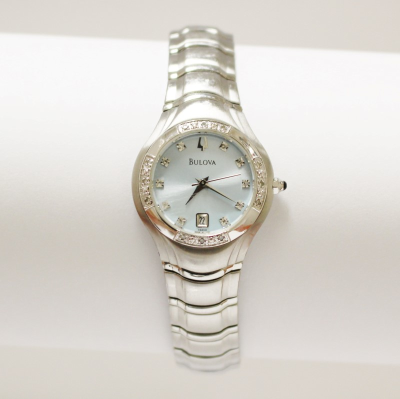 Women's Stainless Steel Bulova Watch 96R02