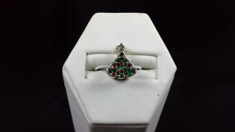 Reflections Christmas Tree Charm 925 Silver 3.7g