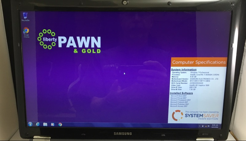 SAMSUNG NOTEBOOK NP-RF711-S02US I7 2.00 GHZ 750 HDD