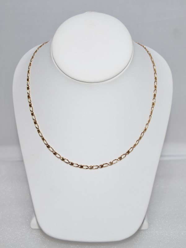 "30"" 14k Yellow Gold Figaro Chain Necklace"