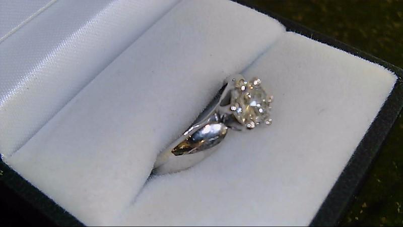 Graded G-H VS2 14K White Gold Diamond 0.75 CTTW Ring 4.7G