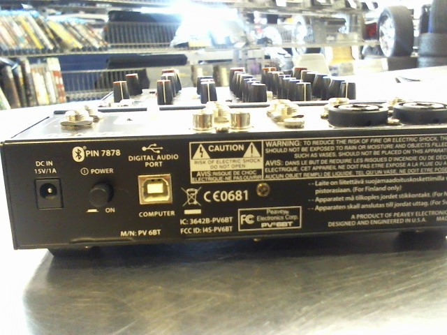 PEAVEY Mixer PV6 BT