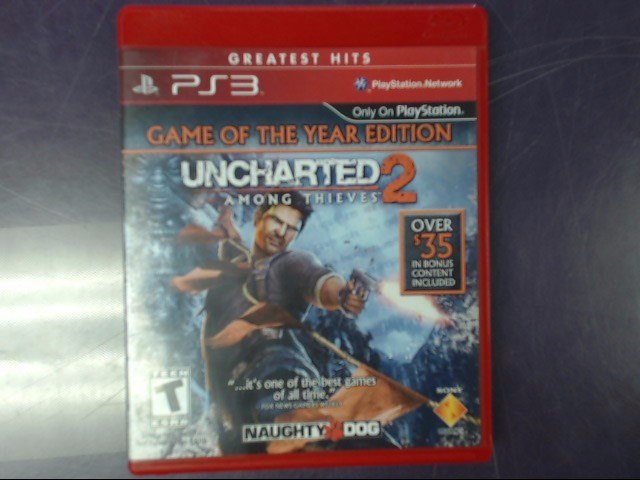 SONY Sony PlayStation 3 Game UNCHARTED 2 GAME OF THE YEAR EDITION
