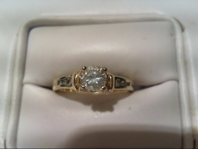 Lady's Diamond Engagement Ring 7 Diamonds .60 Carat T.W. 14K 2 Tone Gold 2.9g