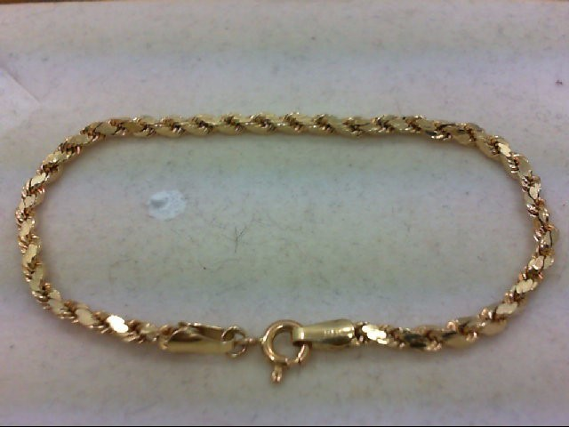 Gold Rope Bracelet 14K Yellow Gold 2.7g