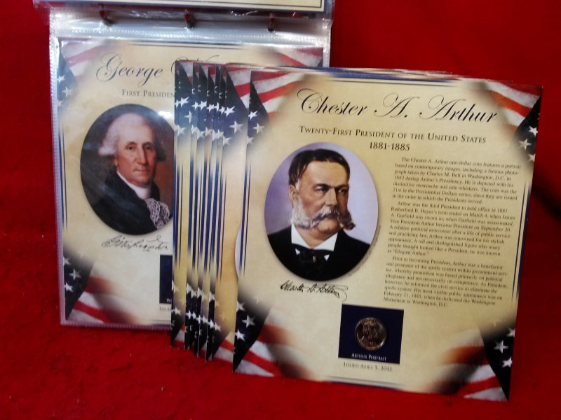 United States President Coin Set 29 $1 Coins - 1st to 29th Presidents