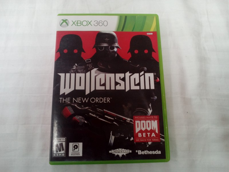 MICROSOFT XBOX 360 WOLFENSTEIN THE NEW ORDER