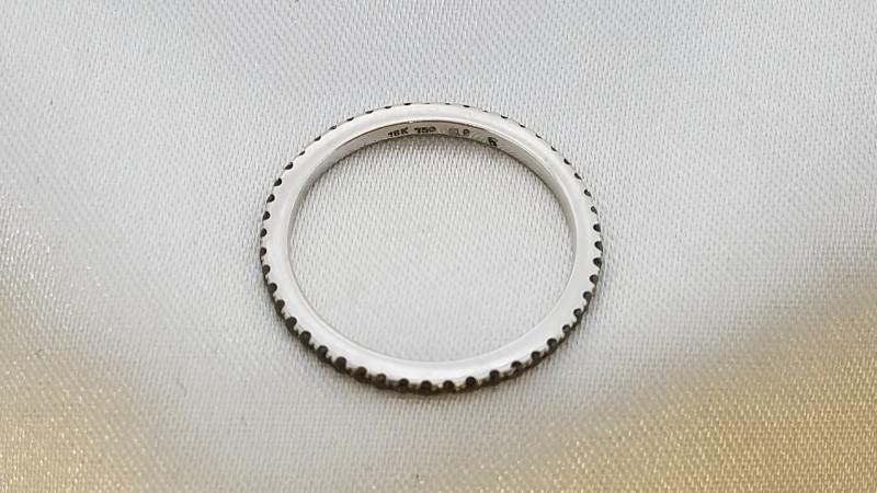 Lady's Gold Ring 18K White Gold 1.6g Size:6.5