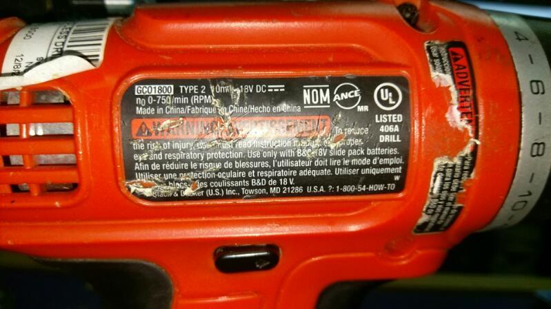 BLACK & DECKER Cordless Drill GCO1800