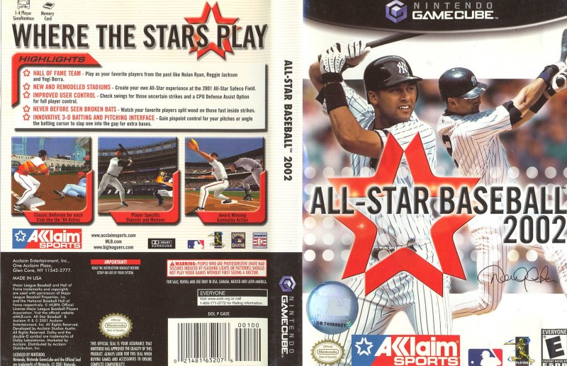 Nintendo GameCube Game ALL-STAR BASEBALL 2002