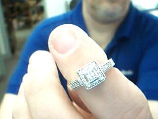 Lady's Gold-Diamond Anniversary Ring 28 Diamonds .60 Carat T.W. 10K White Gold
