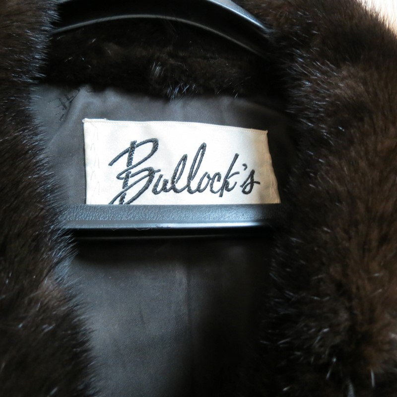 Vintage BULLOCK'S Mink Short Jacket with Faberge' Satin/Silk Lining, Size S-M