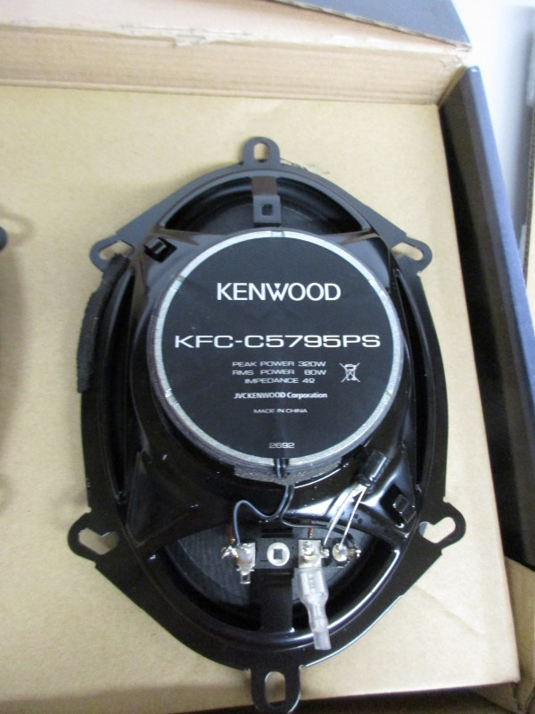 PAIR OF KENWOOD KFC-C5795PS SPEAKERs