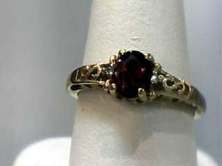 Almandite Garnet Lady's Stone Ring 10K Yellow Gold 1.4dwt Size:6.7