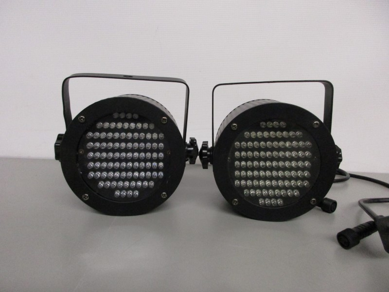 PAIR (2) OF CHAUVET LEDRAIN 36 DMX LED NARROW BEAM SPOTLIGHTS