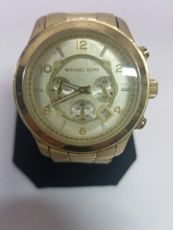 MICHAEL MK-5473 GOLD/SILVER WATCH PLATED   MNS WATCH