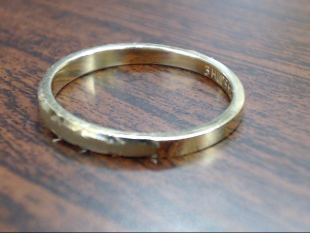 ESTATE DECO EDGE WED RING BAND SOLID REAL 14K YELLOW GOLD 2.5MM SZ 6