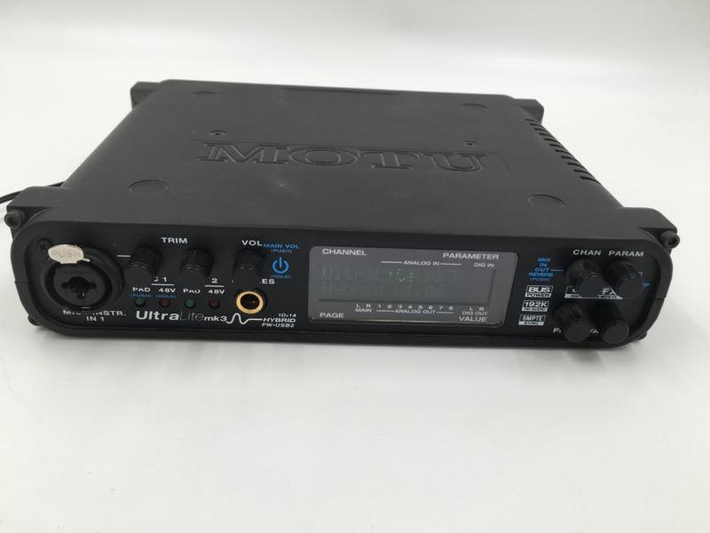 MOTU ULTRALITE MK3 HYBRID USB STUDIO RECORDING INTERFACE