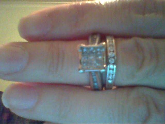 Lady's Diamond Wedding Set 36 Diamonds 1.16 Carat T.W. 10K White Gold 6.4g