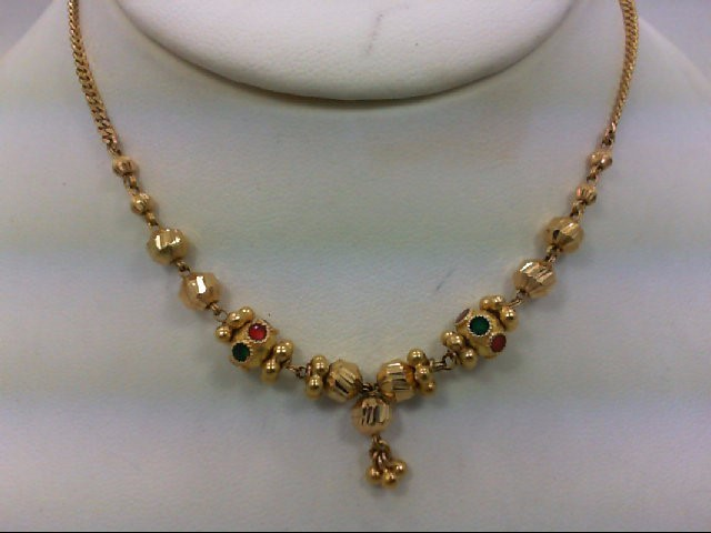 "18"" Gold Fashion Chain 20K Yellow Gold 11.1g"