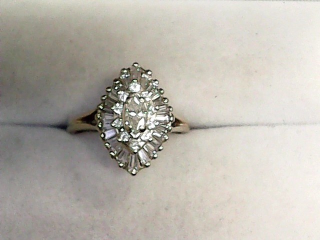 Lady's Diamond Cluster Ring 35 Diamonds 1.27 Carat T.W. 14K Yellow Gold 3.1dwt