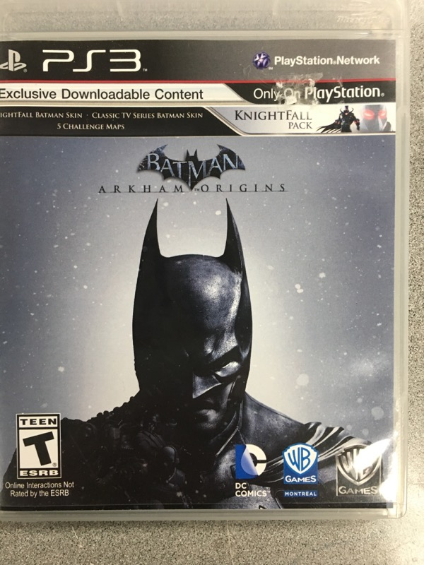 SONY Sony PlayStation 3 Game BATMAN ARKHAM ORIGINS