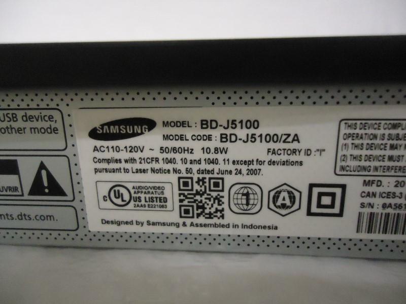 SAMSUNG DVD Player BD-J5100/ZA