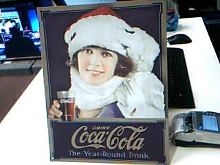ACCESSORIES OTHER METAL SIGN CC-1690; COKE - WINTER GIRL