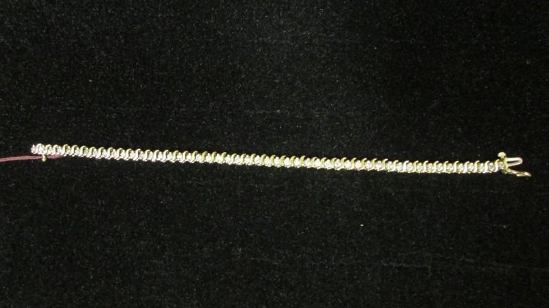 Gold-Diamond Bracelet 49 Diamonds 2.94 Carat T.W. 14K Yellow Gold 13g