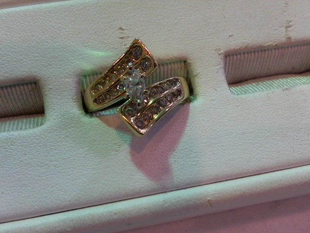 Lady's Diamond Fashion Ring 27 Diamonds .77 Carat T.W. 14K Yellow Gold 6.5g