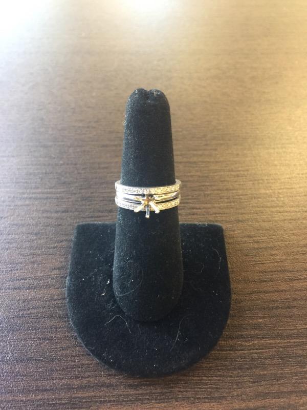 Lady's Diamond Engagement Ring 26 Diamonds .26 Carat T.W. 14K White Gold 6.1g