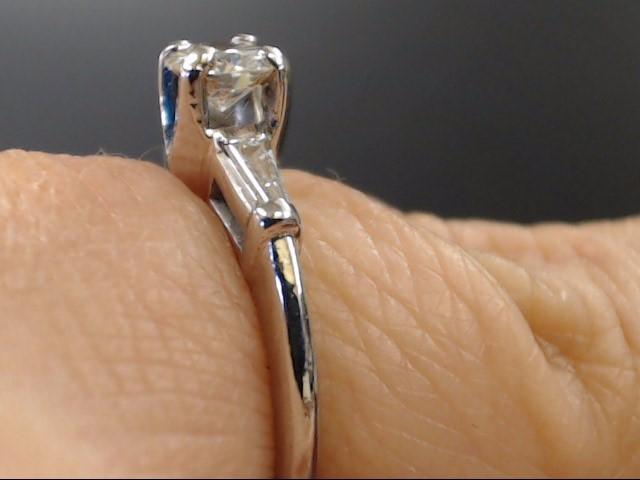 NATURAL DIAMOND 0.52 TCW ENGAGEMENT RING REAL 950 PLATINUM 4g SZ 5.5